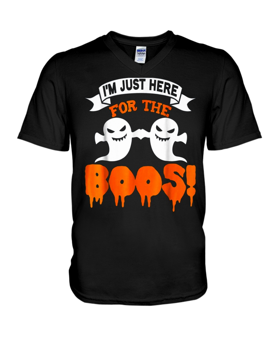 I'm Just Hear For The Boos Halloween T Shirts V-Neck T-Shirt
