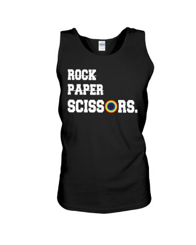 Rock Paper Scissors Lesbian Pride LGBT T Shirts Ho