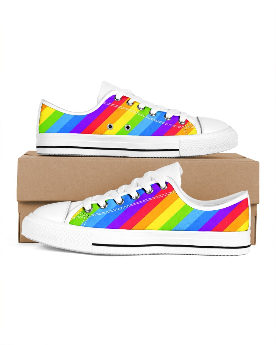Love is Love Shoes Men's Low Top White Shoes
