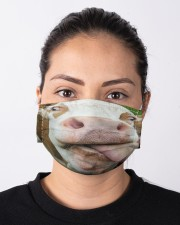 Cow Heifer Licked Funny Farmer Gifts Face Mask Cloth face mask aos-face-mask-lifestyle-01