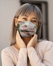 Cow Heifer Licked Funny Farmer Gifts Face Mask Cloth face mask aos-face-mask-lifestyle-17