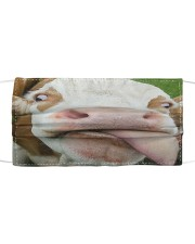 Cow Heifer Licked Funny Farmer Gifts Face Mask Cloth face mask front