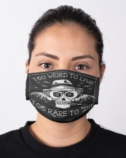 Too Weid To Live Too Rare To Die Masks Facemask Cloth face mask aos-face-mask-lifestyle-01