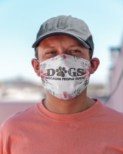 Dogs Because People Suck Masks FaceMask Cloth face mask aos-face-mask-lifestyle-06