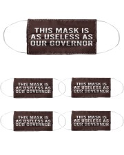 This Mask IS As Useless as Our Governor Face mask Cloth Face Mask - 5 Pack front