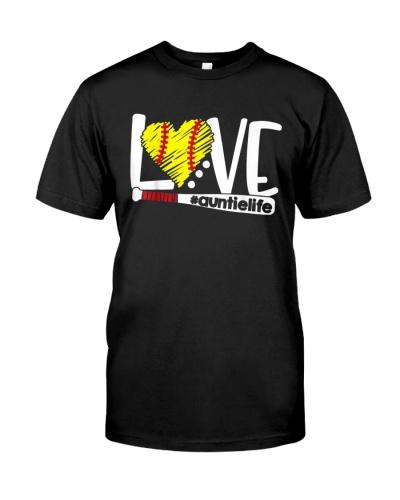 Love Auntie Softball Grandma T Shirts Hoodie