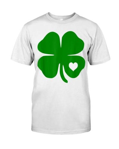 Irish Shamrock Green Clover Heart St Patrick Day