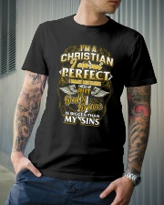 I AM A CHRISTIAN AND PROUD OF IT Classic T-Shirt lifestyle-mens-crewneck-front-6