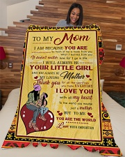 "To My Mom Large Fleece Blanket - 60"" x 80"" aos-coral-fleece-blanket-60x80-lifestyle-front-04"