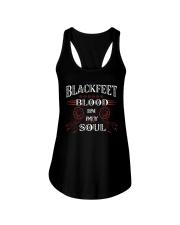 Blackfeet blood in my soul Ladies Flowy Tank thumbnail
