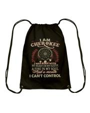 I am Cherokee Drawstring Bag thumbnail