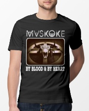 Mvskoke By Blood And By Heart Classic T-Shirt lifestyle-mens-crewneck-front-13