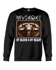 Mvskoke By Blood And By Heart Crewneck Sweatshirt thumbnail