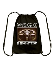 Mvskoke By Blood And By Heart Drawstring Bag thumbnail