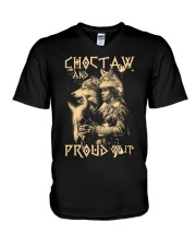 Proud to be Choctaw V-Neck T-Shirt thumbnail