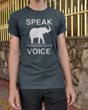 Speak for those who have no voice  Classic T-Shirt apparel-classic-tshirt-lifestyle-21