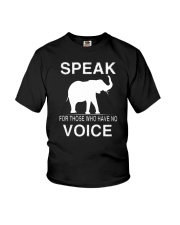 Speak for those who have no voice  Youth T-Shirt thumbnail