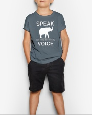 Speak for those who have no voice  Youth T-Shirt lifestyle-youth-tshirt-front-1