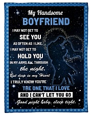 """Family My Handsome Boyfriend Hold You Small Fleece Blanket - 30"""" x 40"""" front"""