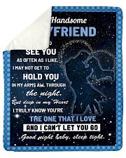 "Family My Handsome Boyfriend Hold You Sherpa Fleece Blanket - 50"" x 60"" thumbnail"