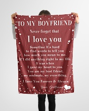 "Family To My Boyfriend Sometime It's Hard Small Fleece Blanket - 30"" x 40"" aos-coral-fleece-blanket-30x40-lifestyle-front-14"