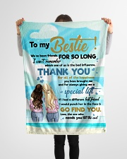 "Family To My Bestie We've Been Friends Small Fleece Blanket - 30"" x 40"" aos-coral-fleece-blanket-30x40-lifestyle-front-14"