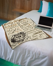 """Skull To My Boyfriend Want You To Believe Deep Small Fleece Blanket - 30"""" x 40"""" aos-coral-fleece-blanket-30x40-lifestyle-front-10"""