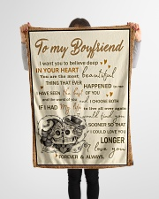 """Skull To My Boyfriend Want You To Believe Deep Small Fleece Blanket - 30"""" x 40"""" aos-coral-fleece-blanket-30x40-lifestyle-front-14"""