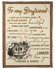 "Skull To My Boyfriend Want You To Believe Deep Small Fleece Blanket - 30"" x 40"" front"