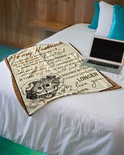"""Skull To My Husband Want You To Believe Deep Small Fleece Blanket - 30"""" x 40"""" aos-coral-fleece-blanket-30x40-lifestyle-front-10"""