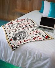 "Skull The Day I Meet You Small Fleece Blanket - 30"" x 40"" aos-coral-fleece-blanket-30x40-lifestyle-front-10"