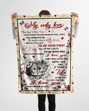 "Skull The Day I Meet You Small Fleece Blanket - 30"" x 40"" aos-coral-fleece-blanket-30x40-lifestyle-front-14"
