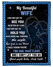 """Family My Beautiful Wife Hold You Small Fleece Blanket - 30"""" x 40"""" front"""