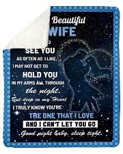 "Family My Beautiful Wife Hold You Sherpa Fleece Blanket - 50"" x 60"" thumbnail"