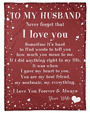 """Family To My Husband Sometime It's Hard Small Fleece Blanket - 30"""" x 40"""" front"""