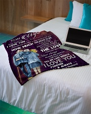 """Family To My Wife How Much You Mean To Me Small Fleece Blanket - 30"""" x 40"""" aos-coral-fleece-blanket-30x40-lifestyle-front-10"""
