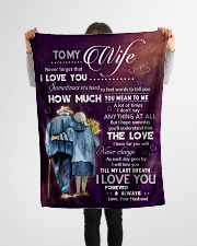 """Family To My Wife How Much You Mean To Me Small Fleece Blanket - 30"""" x 40"""" aos-coral-fleece-blanket-30x40-lifestyle-front-14"""