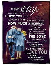 """Family To My Wife How Much You Mean To Me Small Fleece Blanket - 30"""" x 40"""" front"""