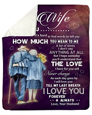 """Family To My Wife How Much You Mean To Me Sherpa Fleece Blanket - 50"""" x 60"""" thumbnail"""