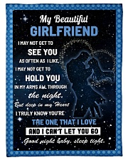 """Family My Beautiful Girlfriend Hold You Small Fleece Blanket - 30"""" x 40"""" front"""