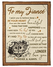 """Skull To My Fiance I Want You To Believe Deep Small Fleece Blanket - 30"""" x 40"""" front"""