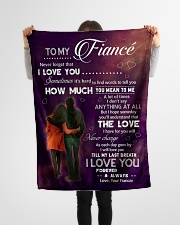 """Family To My Fiance How Much You Mean To Me Small Fleece Blanket - 30"""" x 40"""" aos-coral-fleece-blanket-30x40-lifestyle-front-14"""