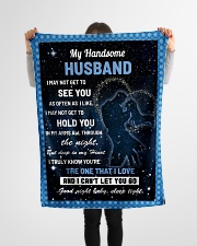 """Family My Handsome Husband Hold You Small Fleece Blanket - 30"""" x 40"""" aos-coral-fleece-blanket-30x40-lifestyle-front-14"""
