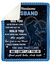 """Family My Handsome Husband Hold You Sherpa Fleece Blanket - 50"""" x 60"""" thumbnail"""
