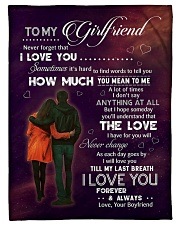"""Family To My Girlfriend How Much You Mean To Me Small Fleece Blanket - 30"""" x 40"""" front"""