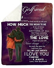 """Family To My Girlfriend How Much You Mean To Me Sherpa Fleece Blanket - 50"""" x 60"""" thumbnail"""