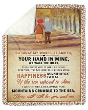 "Family Your Hand In Mine Sherpa Fleece Blanket - 50"" x 60"" thumbnail"