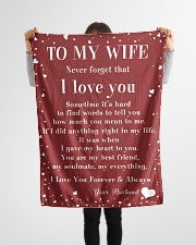 """Family To My Wife Sometime It's Hard Small Fleece Blanket - 30"""" x 40"""" aos-coral-fleece-blanket-30x40-lifestyle-front-14"""