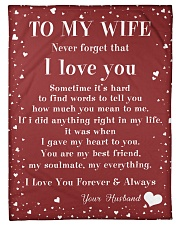 """Family To My Wife Sometime It's Hard Small Fleece Blanket - 30"""" x 40"""" front"""