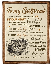 """Skull To My GirIfriend Want You To Believe Deep Small Fleece Blanket - 30"""" x 40"""" front"""